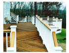ipe deck with king post vinyl rail system
